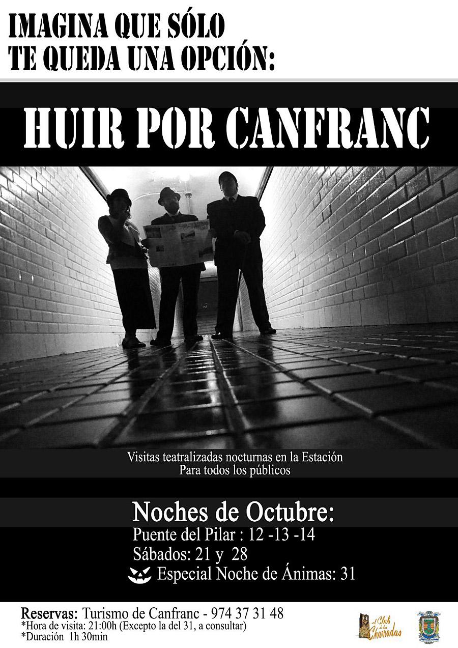 Huir por Canfranc. Visitas teatralizadas