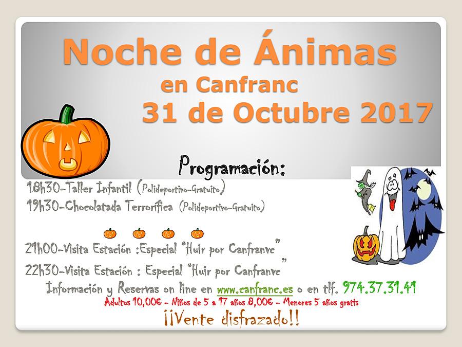 Noche de ánimas en Canfranc  ¡¡Ven disfrazado!!
