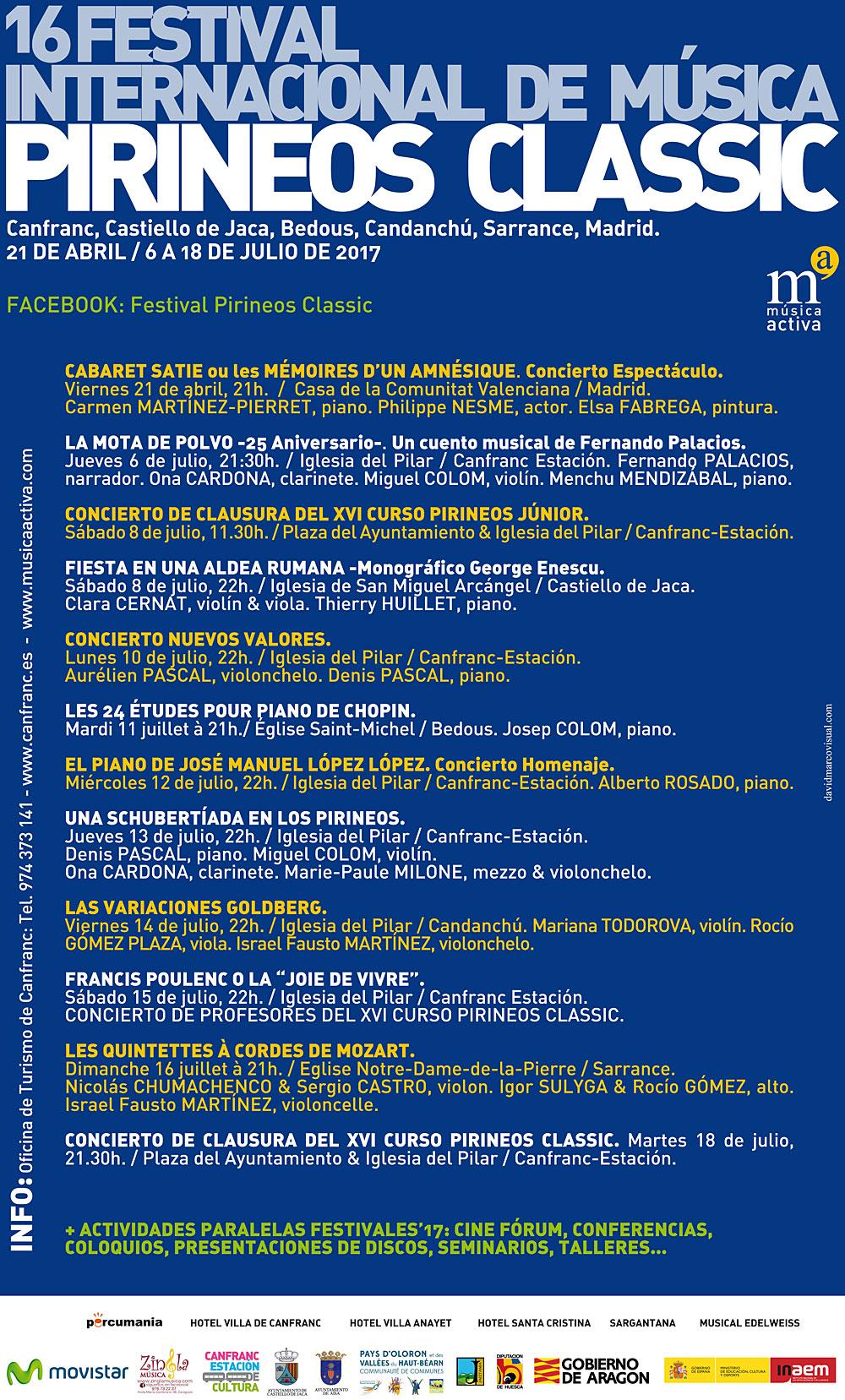 Pirineos Classic 2017 : conciertos