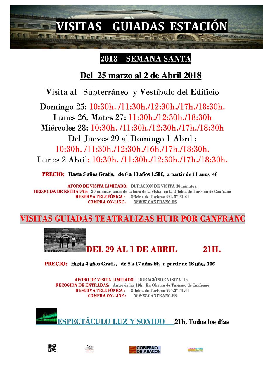 Visitas guiadas a la Estación de Canfranc del 25 de marzo al 2 de abril