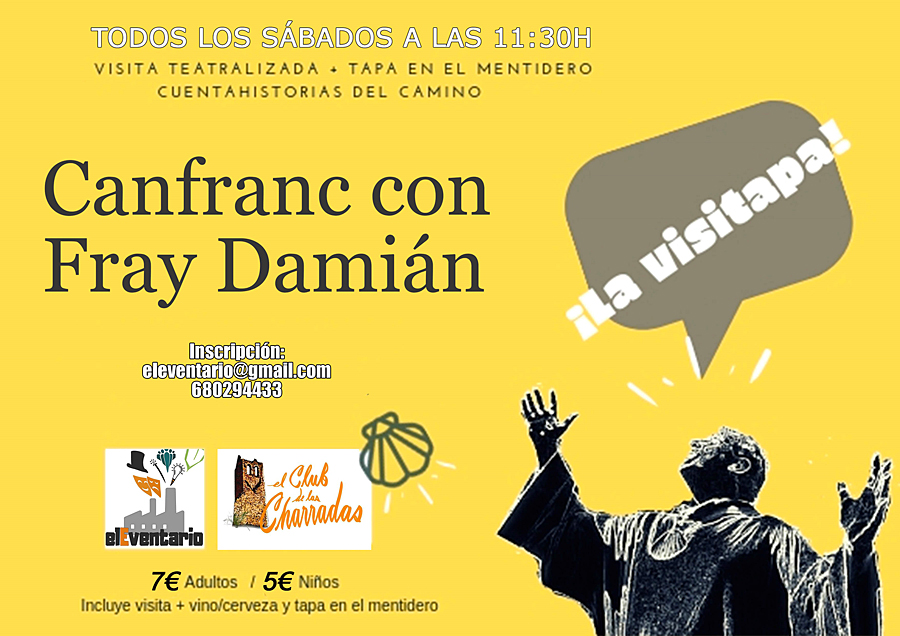 Vista teatralizada a Canfranc Pueblo con Fray Damián