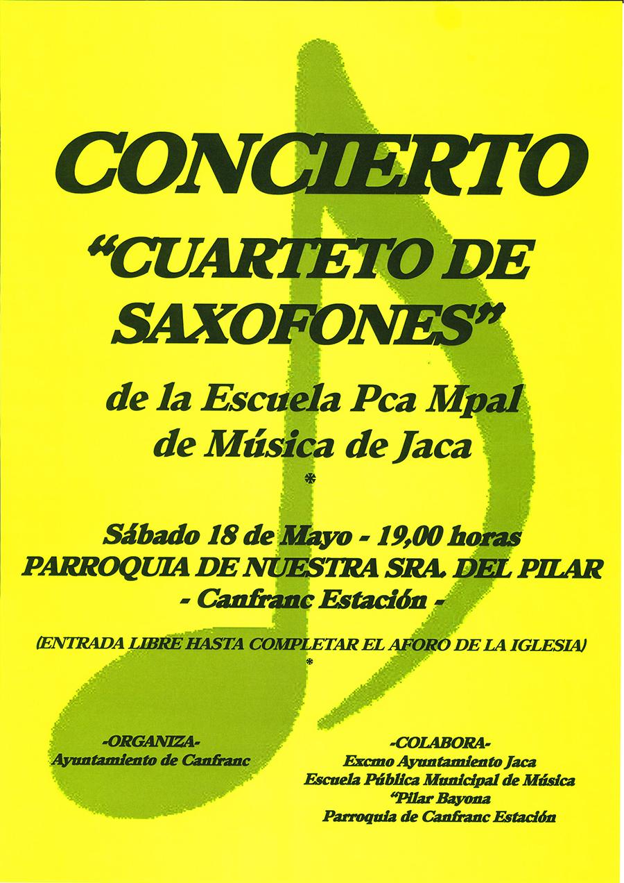 """Concierto """"Cuarteto de saxofones"""""""