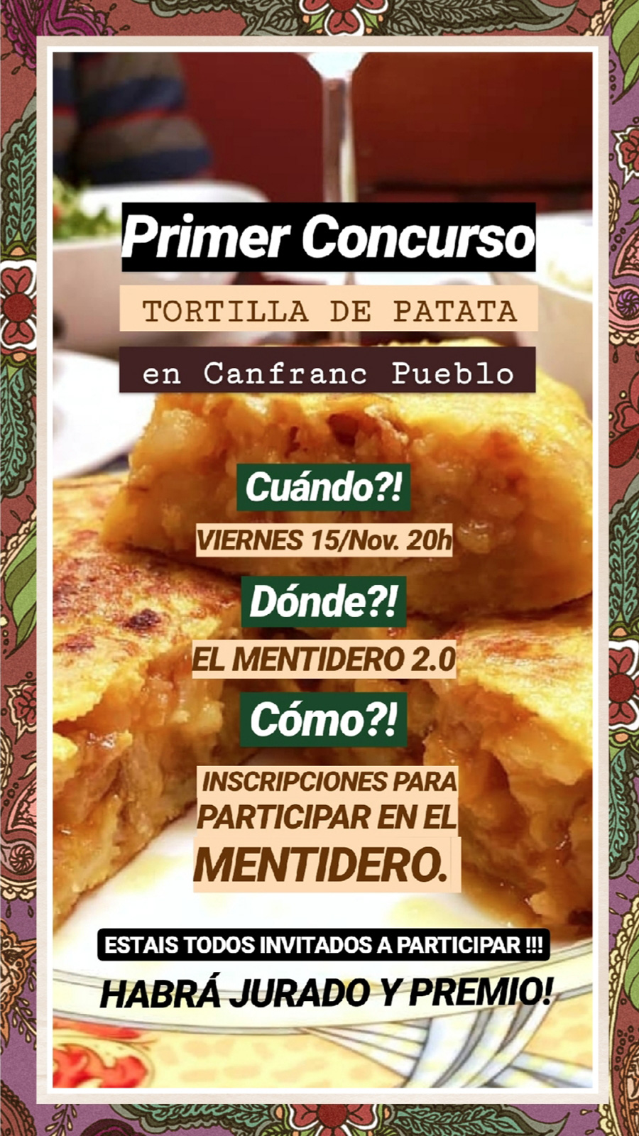 I Concurso Tortilla de Patata