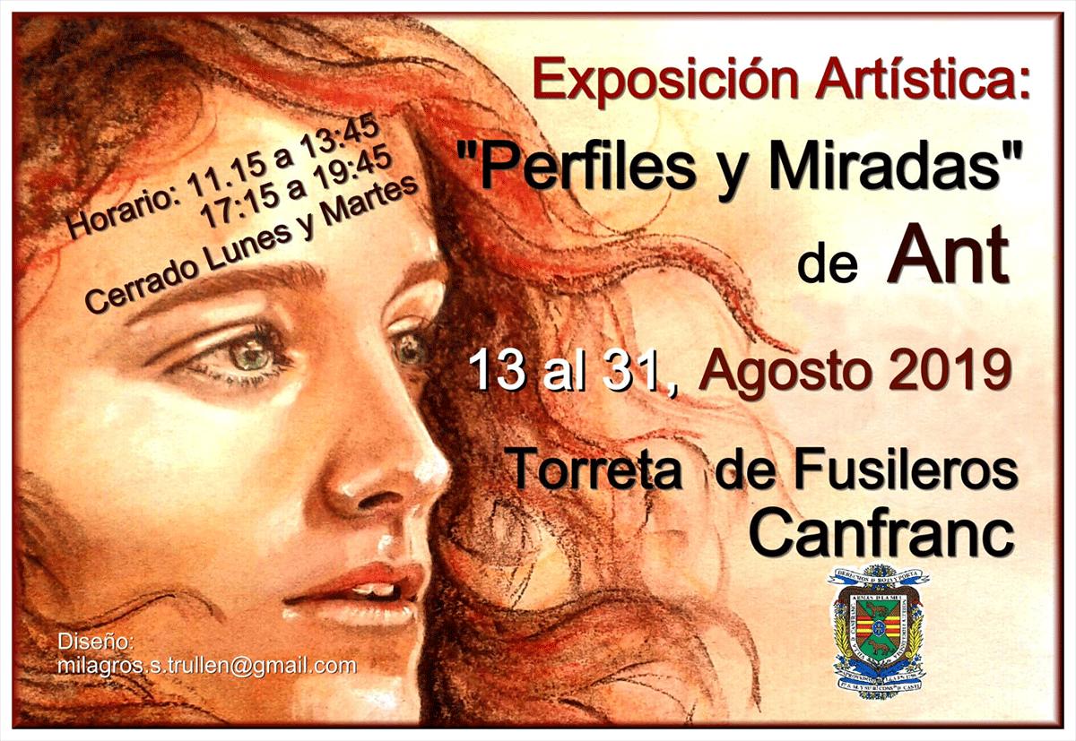 """Exposición artística """"Perfiles y Miradas"""" de Ant"""