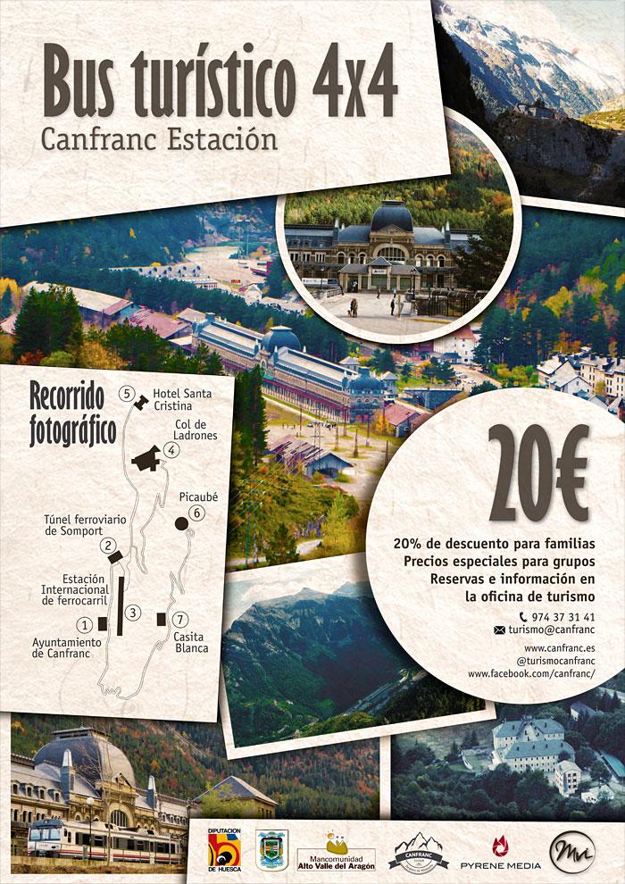 Bus turístico Canfranc Estación 4x4: Recorrido fotográfico
