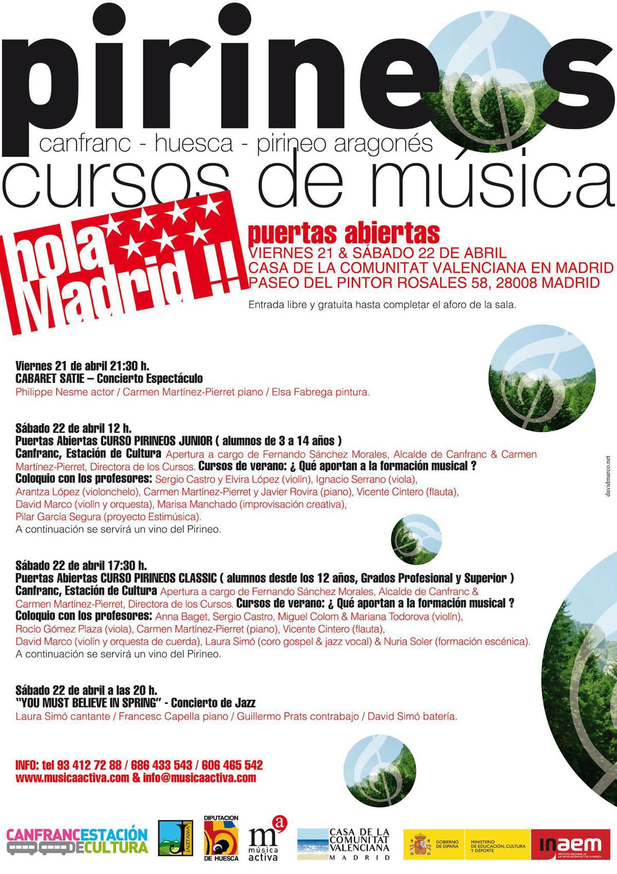 FIN DE SEMANA DE PUERTAS ABIERTAS EN MADRID Fechas: 21 & 22 de abril de 2017 Sede:Casa de la Comunidad Valenciana – Salón de Actos Paseo del Pintor Rosales 58 / 28008 Madrid