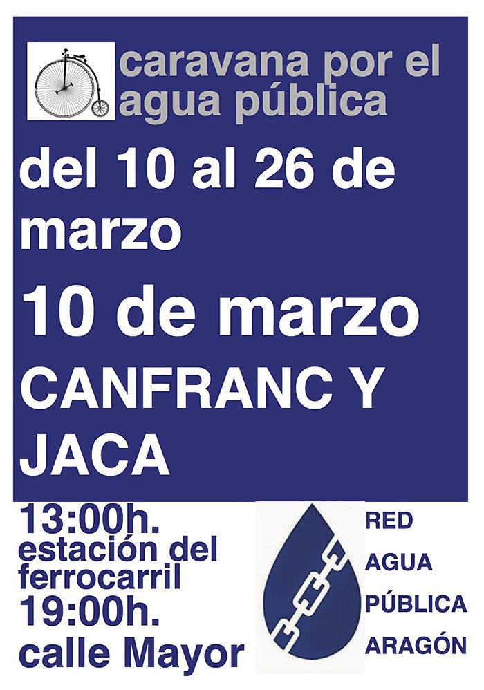 Caravana por el agua pública, Red de Agua Pública de Aragón