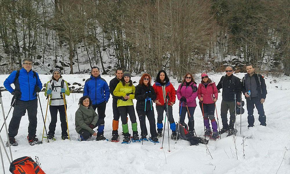 Salidas con raquetas de nieve